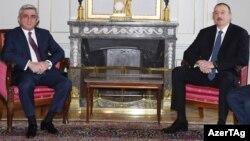 Серж Саргсян и Гейдар Алиев во время встречи в Берне