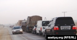 Дорога из Актау в Жанаозен, 14 января 2012
