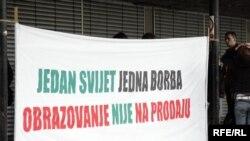 Sa protesta zagrebačkih studenata, Foto: zoomzg