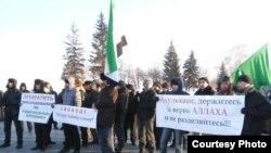 Март башында Уфада узган пикетта 100ләп кеше катнашты