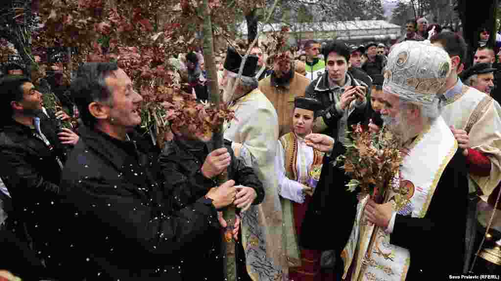 Orthodox Christmas Eve in Cetinje, the old royal capital of Montenegro.
