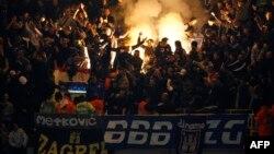 Fotografi arkivi e tifozëve të Dinamos së Zagrebit