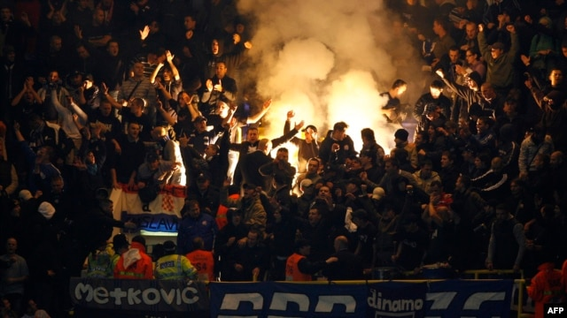 "Many of Dinamo Zagreb's hard-core ""ultra"" fans have long been associated with nationalist causes."