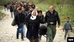 Մակեդոնիա - Փախստականներ Հունաստանի սահմանի մոտ, հոկտեմբեր, 2015թ․