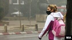 Загаден воздух, смог и магла во Скопје. 14.12.2017