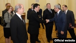 Armenia -- President Serzh Sarkisian meets with ambassadors of EU member countries, Yerevan, 26Nov2014