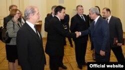 Armenia -- President Serzh Sarkisian meets with ambassadors of EU member countries, Yerevan, 26Nov2014