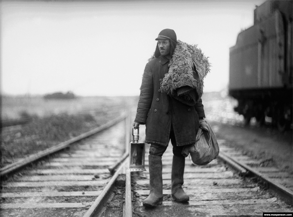 "Portrait of a railway worker. Penson reportedly committed himself to shooting ""one roll [of film] a day."""