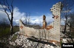 Разваліны ў Чарнобыльскай зоне