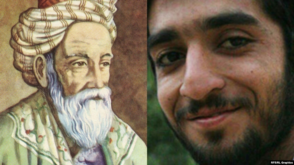 Omar Khayyam, the Persian mathematician, astronomer, and poet (left), may be replaced in Iranian textbooks by Mohsen Hojaji, a 25-year-old Iranian fighter killed in Syria.