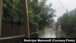 Azərbaycan kəndi, intensiv yağışlardan sonra (arxiv fotosu)