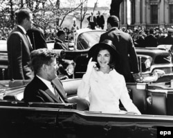 Джон Кеннеди и Жаклин Кеннеди. Вашингтон. 27 марта 1963