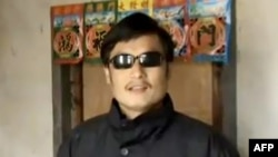 China -- Blind activist Chen Guangcheng, undated