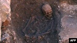 Скелет, знайдений під час розкопок у Лестері