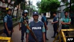 یک ایست بازرسی در داکا