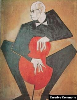 Гавриил Гликман. Портрет Мстислава Ростроповича, 1972