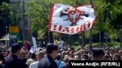 """Djathtistët e grupit """"Zavetnici"""" në Serbi"""