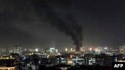 Стовп диму з епіцентру теракту в Анкарі, 17 лютого 2016 року