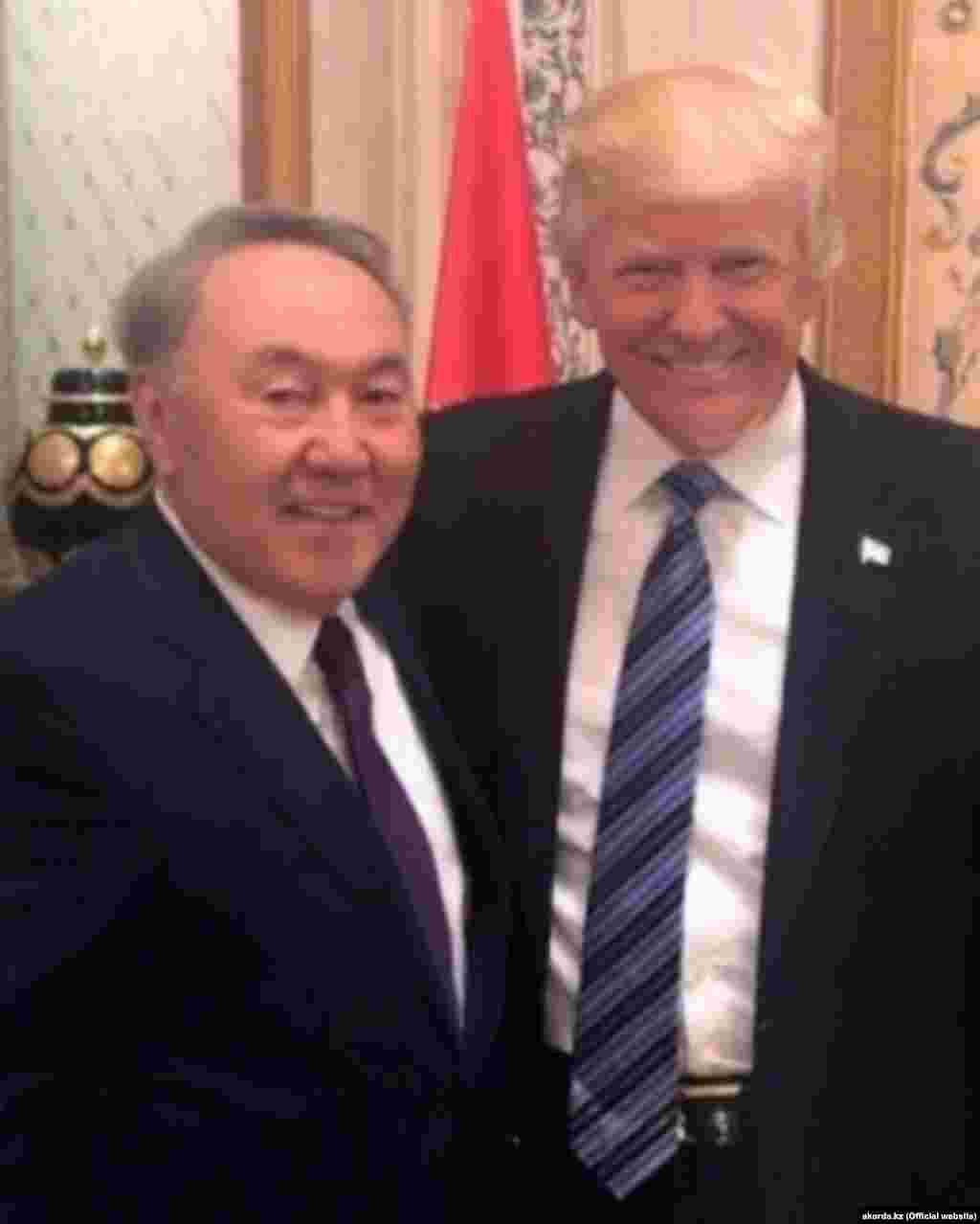 Встреча Дональда Трампа с Нурсултаном Назарбаевым будет второй с момента вступления в должность 45-го президента США. Первая состоялась в Эр-Рияде в мае прошлого года на полях саммита арабских государств.