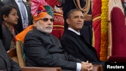 Нарендра Моди АКШ президенти Барак Обама менен.