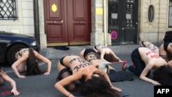 Акция Femen в Тунисе