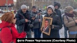 Акция памяти Немцова в Новосибирске. 27 февраля 2019 года