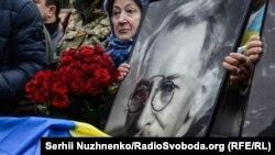 Під час церемонії перепоховання Олександра Олеся на Лук'янівському кладовищі. Київ, 29 січня 2017 року