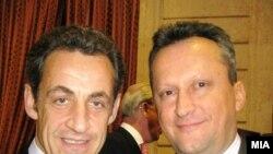 Претседателот на Собранието Трајко Вељановски оствари средба со францускиот претседател Николас Саркози на крајот на февруари