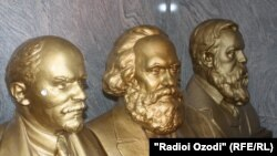 The old Soviet-era busts of communist leaders were found hidden in a secret room in the Tajik parliament.