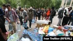 Лагерь оппозиции на Чистых прудах