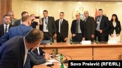 Sjednica Administrativnog odbora Skupštine o imunitetu Medojeviću u ponedjeljak bila je obilježena incidentima. Podgorica 12.jun 2017.