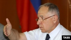 """Aliyev blamed the Tax Service incident on """"destructive forces"""" who will stop at nothing."""