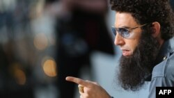 """Sacha Baron Cohen promotes """"The Dictator"""" at the Cannes film festival."""