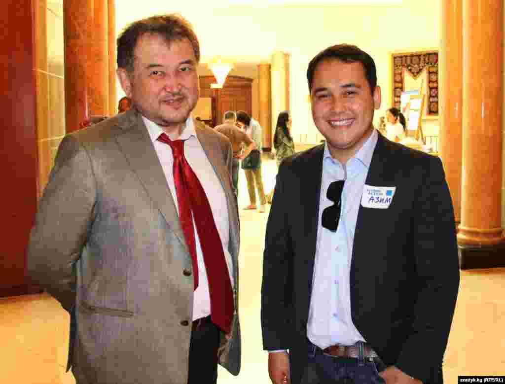 Эмиль Уметалиев, президент компании Kyrgyz Concept (слева)