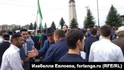 На митинге против договора о границе с Чечней. Магас, Ингушетия