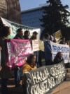 Kazakhstan - A demonstration in Almaty. 9 November