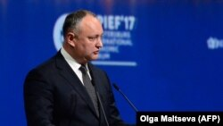 Moldovan President Igor Dodon (file photo)