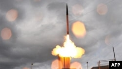 A U.S. defensive missile launches from the Pacific Missile Range in 2008