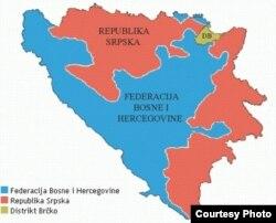 Мапа Боснії і Герцеговини