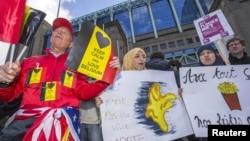«Марш против террора и ненависти». Брюссель, 17 апреля 2016 года.