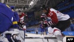 La Pyeongchang la un meci de hochei feminin