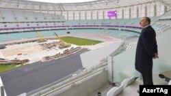 İlham Əliyev Bakı Olimpiya Stadionunda - 18 mart 2015