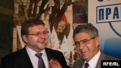 Лидеры СПС не хотят, чтобы Москва была Нью-Йорком, а Россия - Мексикой. Никита Белых (слева) и Леонид Гозман