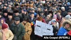 La unul din protestele antiguvernamentale de la Chișinău