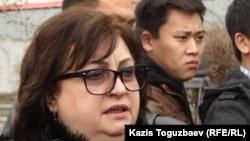 Елена Ребенчук, адвокат Ирлана Абдрахманова. Алматы, 12 апреля 2014 года.
