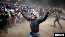 Pamje nga përleshjet në Gaza.