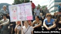 Sa protesta za JMBG, Sarajevo, jul 2013.
