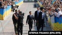 La sosirea lui Volodimir Zelenski la Parlament, 20 mai 2019