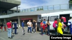 An anonymouos caller claime to have left a bomb at the international Manas airport in Kyrgyzstan's capital, Bishkek (file photo).