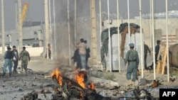 File photo of an attack on an Afghan highway.
